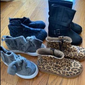 4 pairs gently NEW and gently used shoes/boots